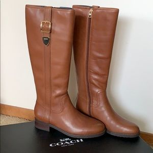 Coach Easton dark saddle boots
